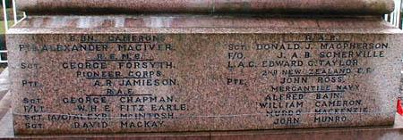 Invergordon War Memorial