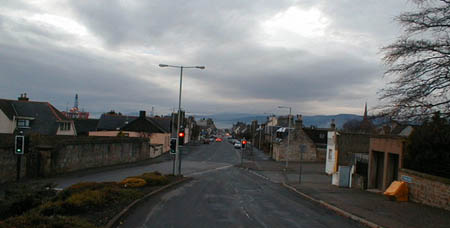 View from the Memorial of Invergordon High Street, looking west.