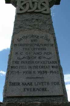 Kiltearn (Evanton) War Memorial - front