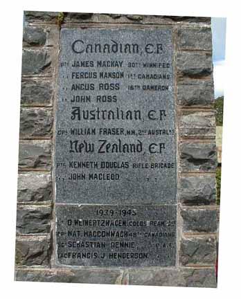 Kiltearn (Evanton) War Memorial - left