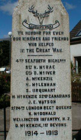 Kinlochewe War Memorial