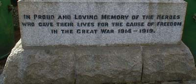 Maryburgh War Memorial