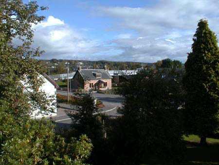 View from Muir of Ord War Memorial.