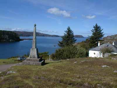 View of the Memorial overlooking Loch Torridon.