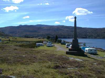 Monument and camping site.