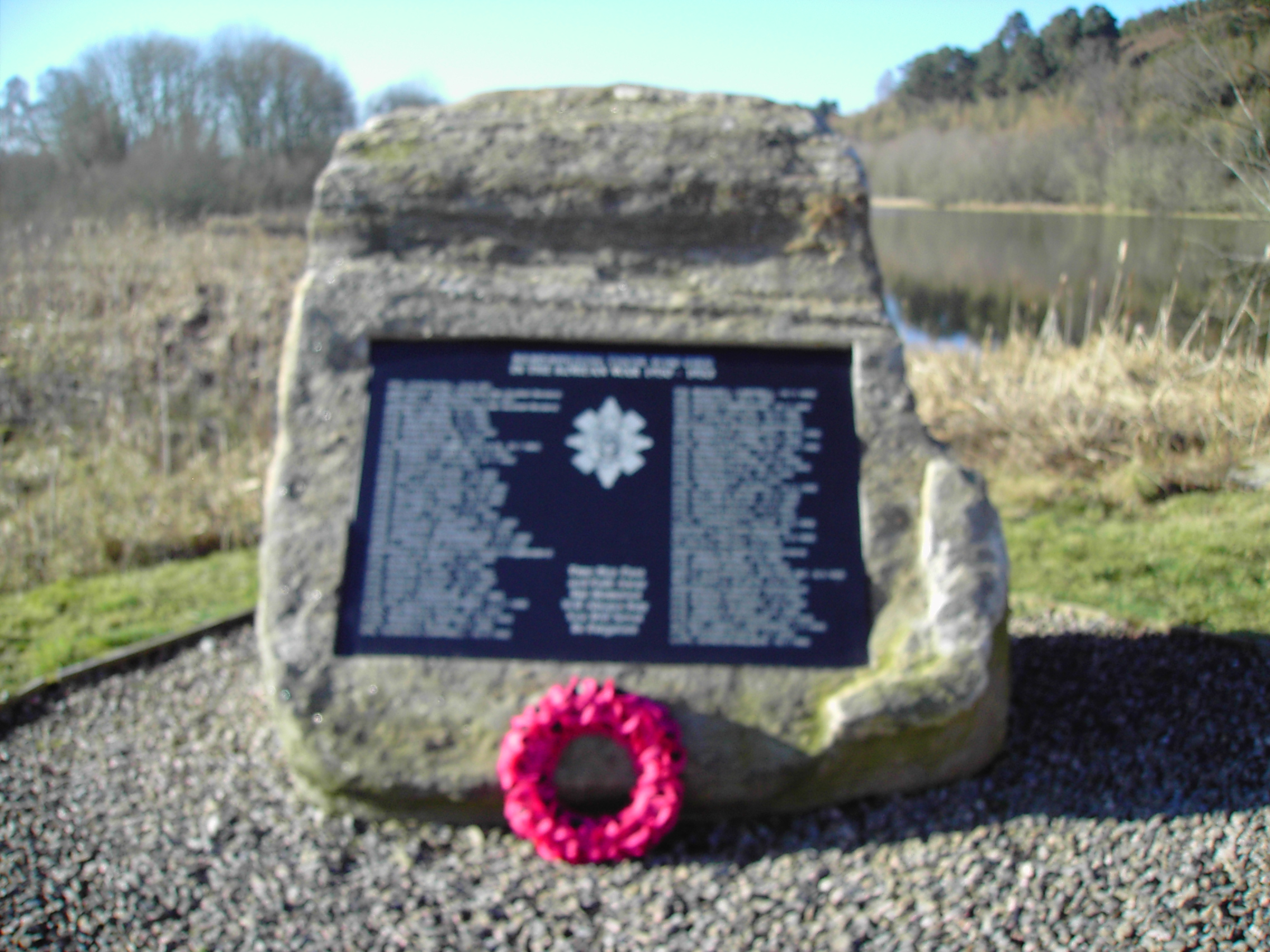 Korean War, Black Watch Memorial, Loch Kinellan, Strathpeffer.