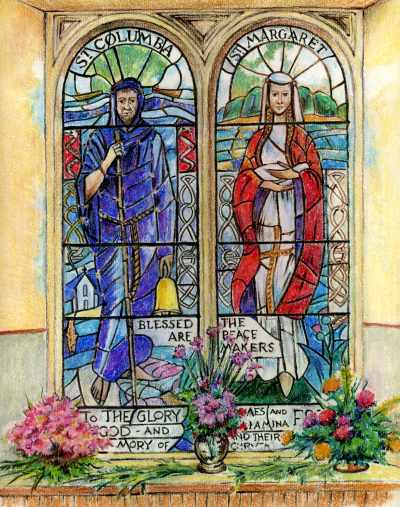 Memorial window in St Clement's Church