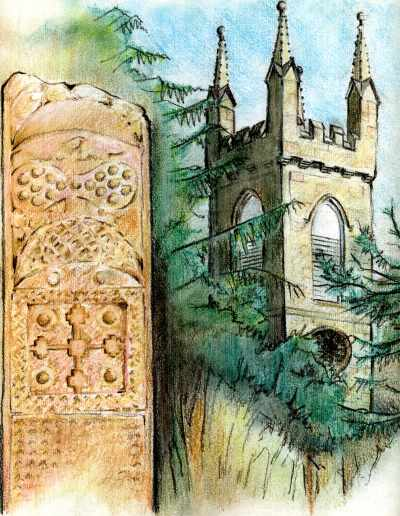 Rosemarkie Pictish cross-slab and church