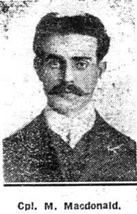 Macdonald Murdo, Corpl