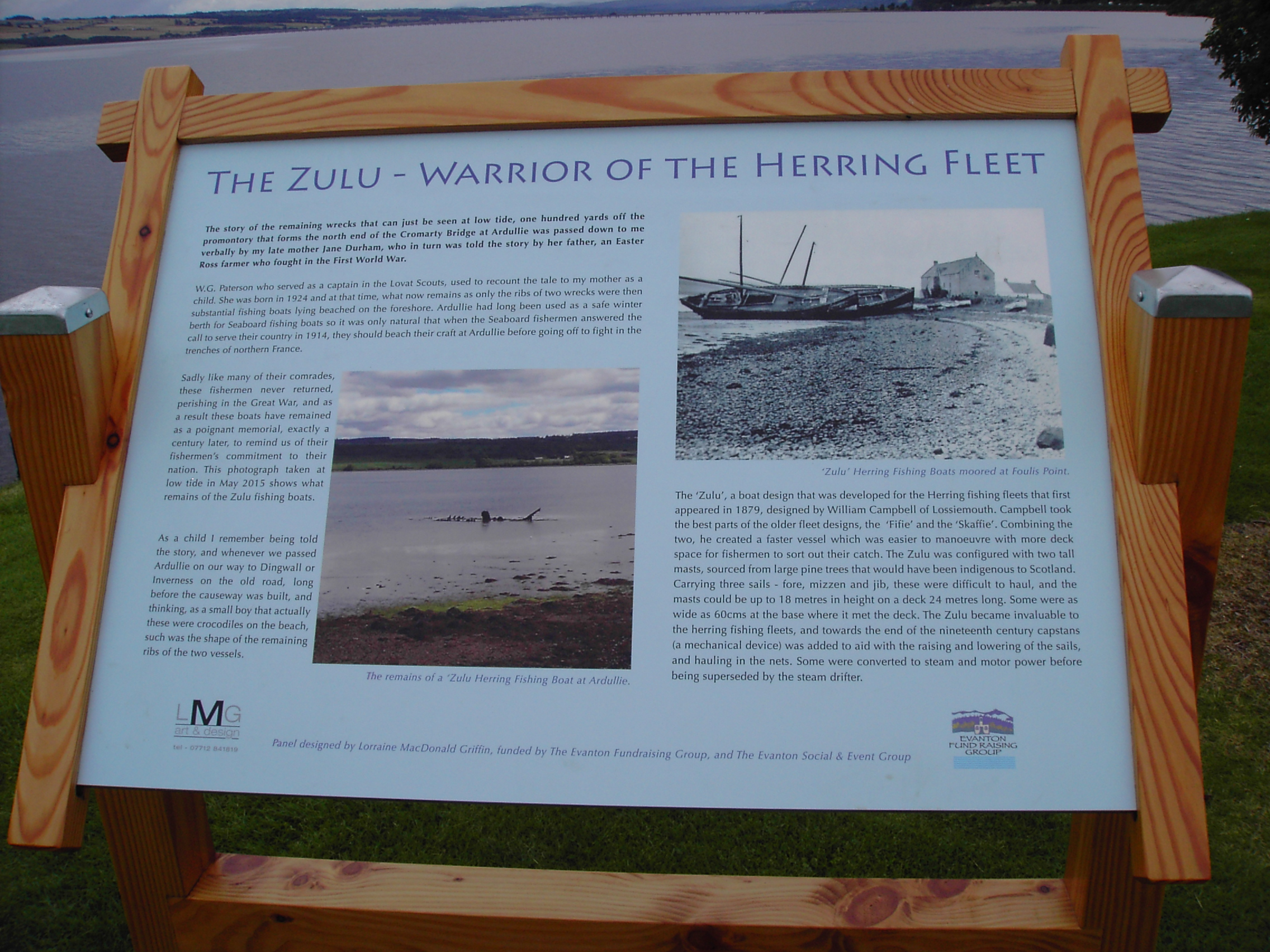 The display board about the Zulu boats