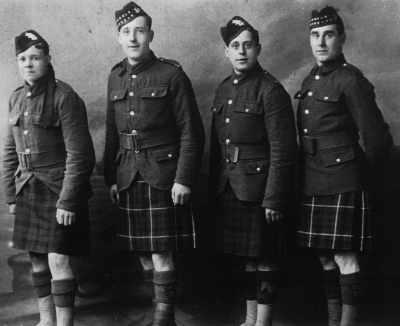 Left to right: Donald Patience, James Ross, John Percy, John Hendry
