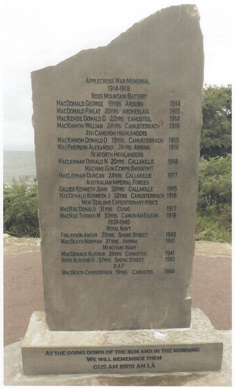 Applecross War Memorial