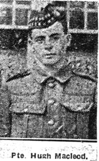 Macleod Hugh, Pte, Ullapool