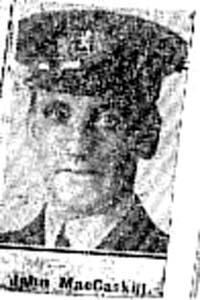 Macaskill John, Chief Steward