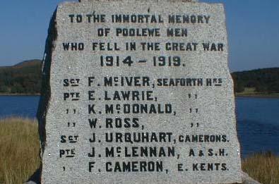 Poolewe War Memorial
