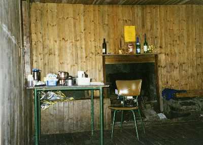 Bernais bothy - interior