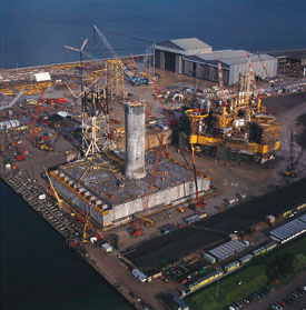 Barmac fabrication yard at Nigg