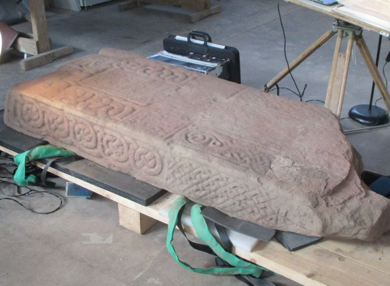 The stone at the conservators. [Photo: NOSAS]
