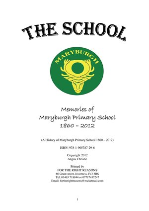 Maryburgh School, book cover