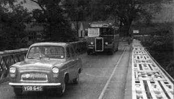 Crossing the Conon bridge when it was the main A9 road