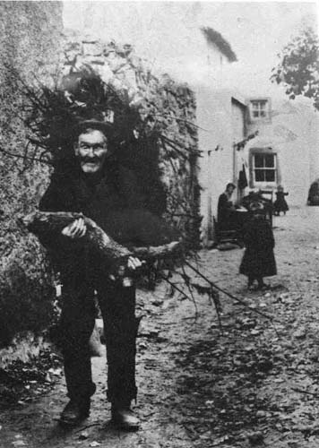 The Little Vennel and carryimg the firewood is 'old Alicky Peepy'
