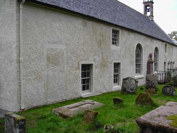 Site of Lt. John Thomson's grave beside Cromarty East Church.