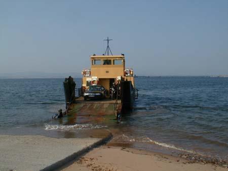 Preparing to disembark at Cromarty.