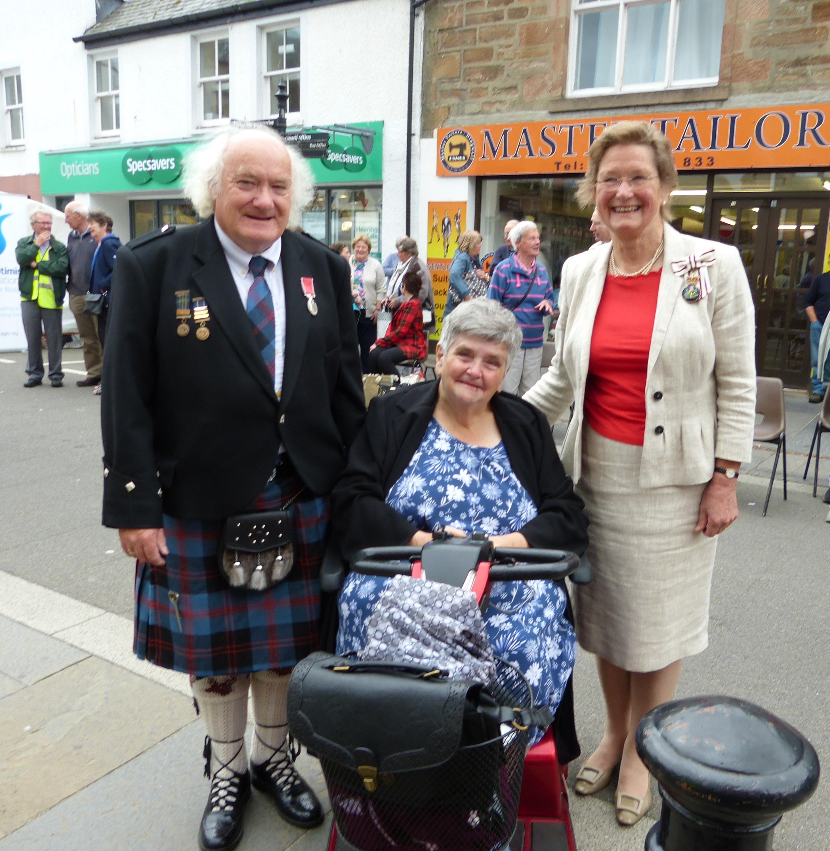 29 PeterAngus, wife Jennifer and Lord Lieutenant Mrs Janet Bowen [Photo courtesy of Alasdair Cameron]