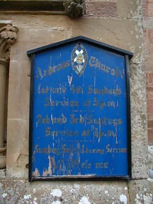 Notice board Ardross Church