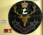 Many of the artefacts in the Military Room show a connection with the Seaforth Highlanders