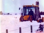 Clearing snow in winter