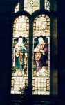 Stained glass windows in Kilmuir Easter Church