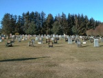 Tore burial ground, looking north.