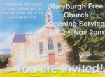 Maryburgh Free Church - opening following renovations