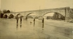 The frozen River Conon in the early part of the 20th century