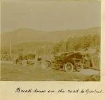 Car breakdown on the road to Garbat.