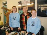 Katie and Jason, P7, with Councillor Paterson