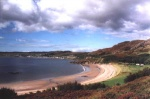 The village of Gairloch on the West coast of Scotland has a beautiful beach