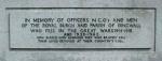 Dingwall Civic War Memorial plaque No. 6