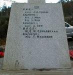 Knockbain (Munlochy) War Memorial - inscriptions on back